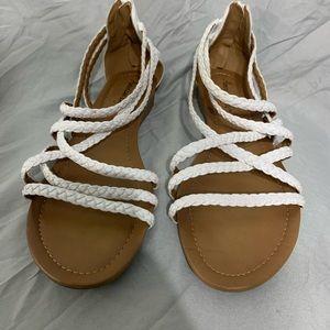 American Eagle White Strappy Sandals
